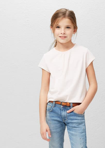 Essential cotton-blend t-shirt | MANGO KIDS