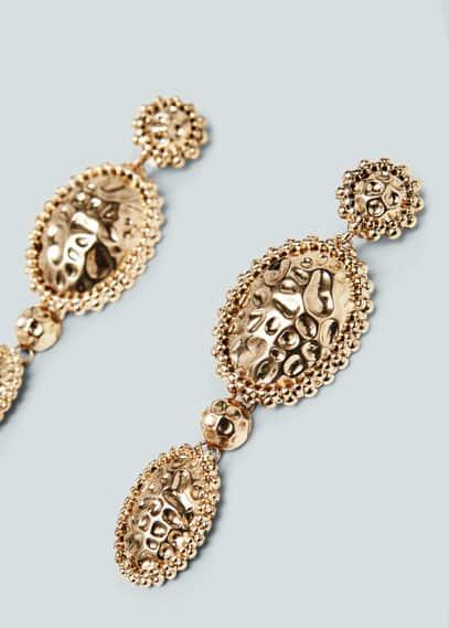 Metal pendant earrings   MNG