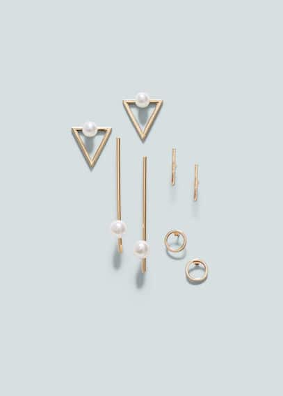 Mixed pieces earrings   MANGO