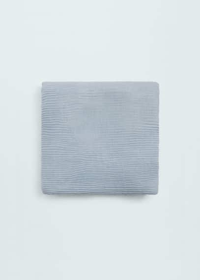条纹织纹围巾   MANGO