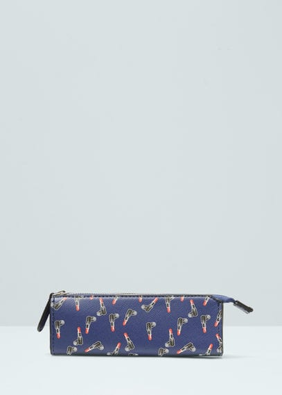 Saffiano-effect cosmetic bag | MANGO