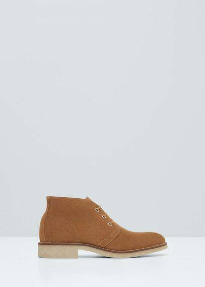 Suede desert boots   MANGO MAN