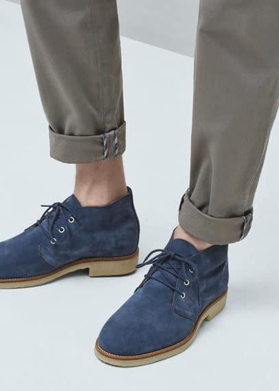 Замшевые ботинки для пустыни | MANGO MAN