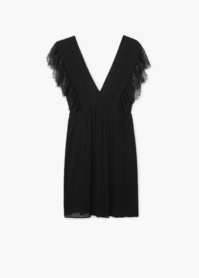 Lace pleated dress | MANGO