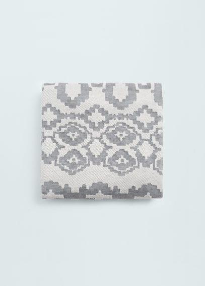 提花棉质围巾 | MANGO