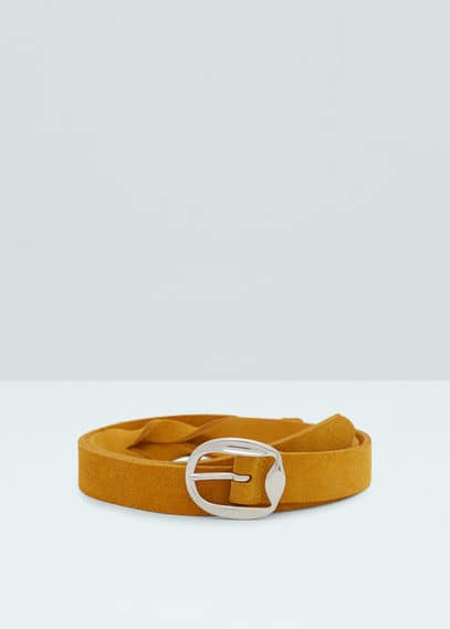 Suede belt | MANGO
