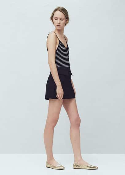 Stripe patterned top | MANGO