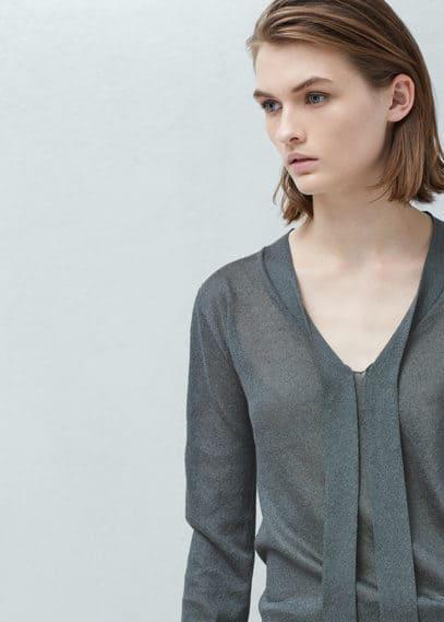 Jersey cuello lazo | MANGO