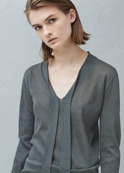 Pullover mit schleifenkragen | MANGO