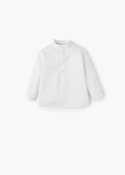 Camicia testurizzata righe | MANGO KIDS
