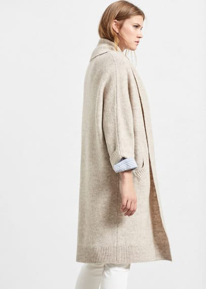 Lapel long cardigan | VIOLETA BY MANGO