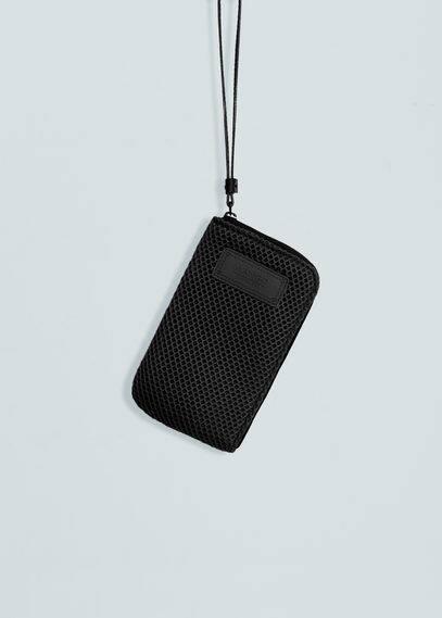Housse téléphone portable maille filet | MANGO