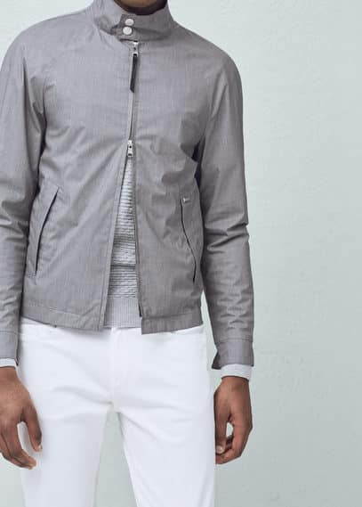 Textured jacket | MANGO MAN