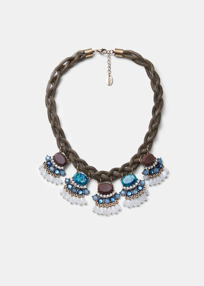Bead chain necklace | VIOLETA BY MANGO