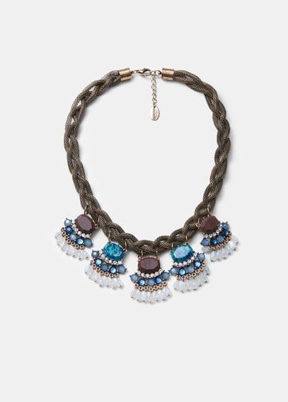 Collar cadena abalorios | VIOLETA BY MANGO