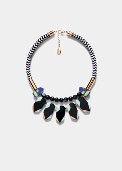 Embellishment cord necklace | VIOLETA BY MANGO