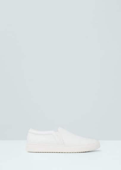 Slangenleren slip-on sneakers | MANGO