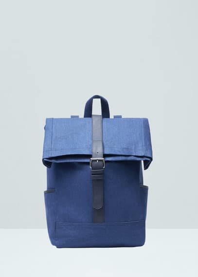 Front lapel backpack | MANGO MAN
