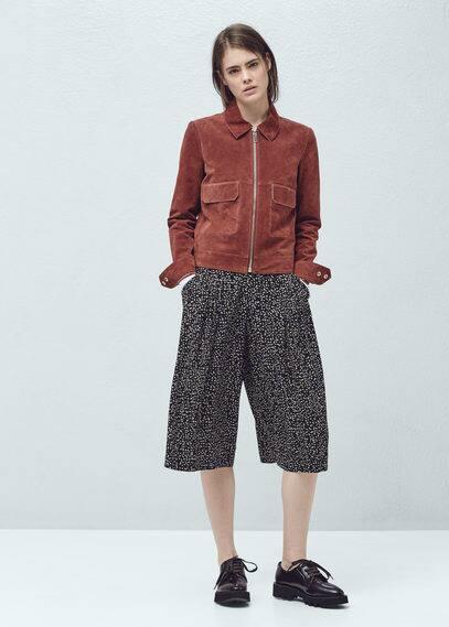 Pantalon palazzo imprimé | MANGO