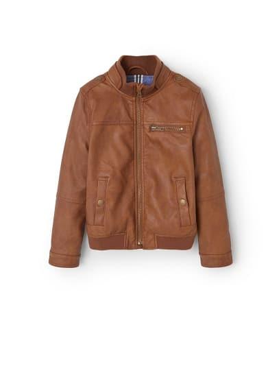 Motorcu tarz fermuarlı ceket