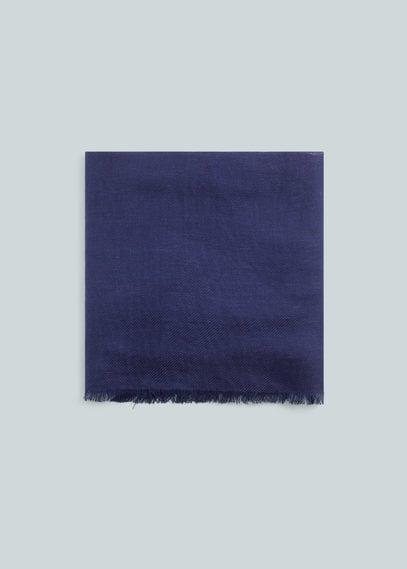 亚麻混纺围巾 | MANGO MAN