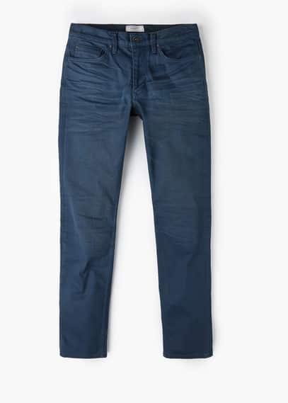 Jeans tim slim-fit azul marino   MANGO MAN