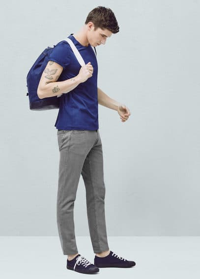 Jean jan slim-fit gris | MANGO MAN