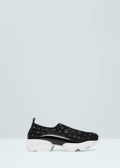 Sneakers met bloemappliqué | MANGO