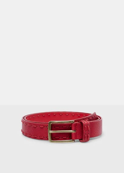 Rectangular buckle belt | VIOLETA BY MANGO