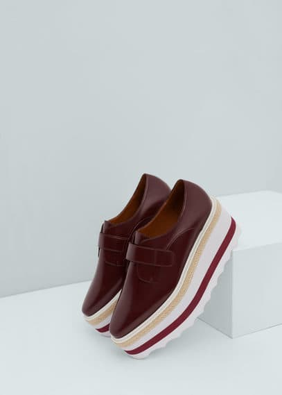 Contrast platform shoes | MANGO