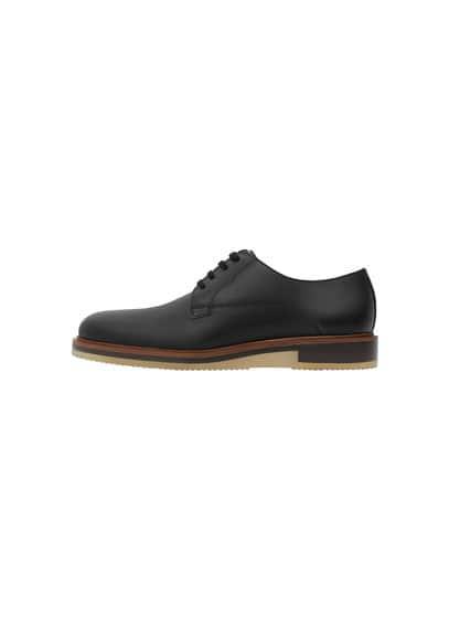 Chaussures Derby Cuir - Lacets, doublure et semelle intérieure en cuir, semelle en caoutchouc.