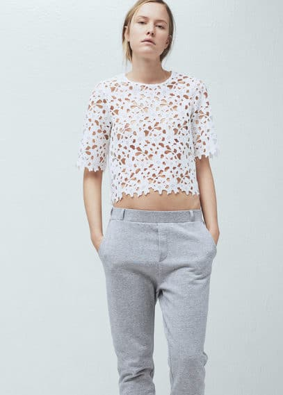 Guipure t-shirt | MANGO