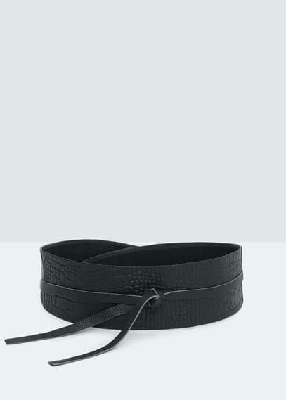 Cinturón fajín piel | MANGO