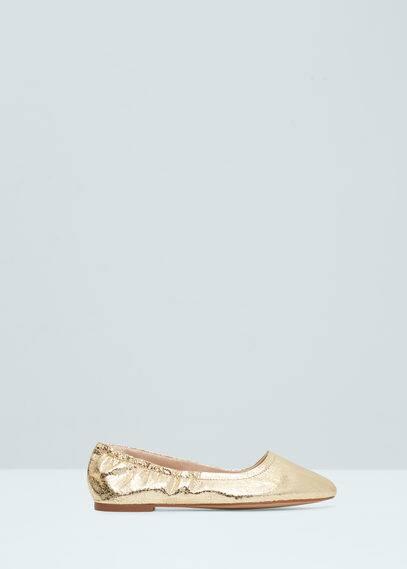 Elastic metallic ballerinas | MANGO
