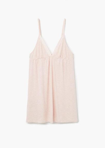 Chemise de nuit à motif triangle | MANGO