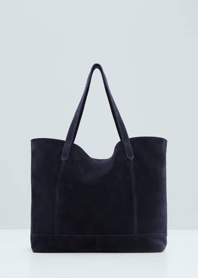 Suede shopper bag | MANGO