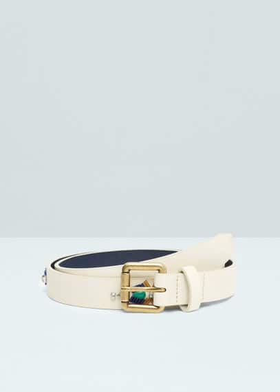 Faceted crystal belt | MANGO