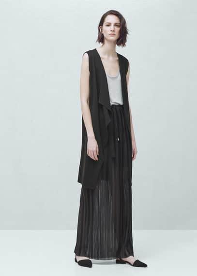 Pleated long skirt | MANGO