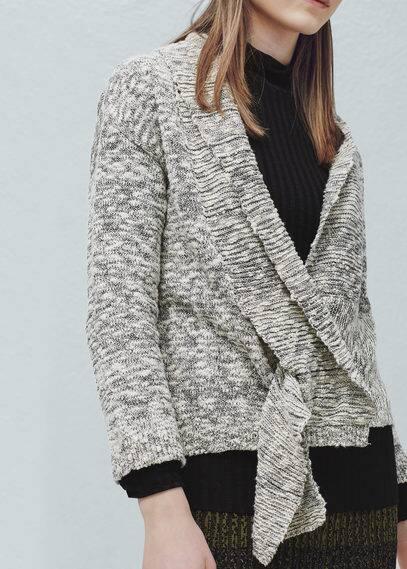 Cardigan jaspé coton | MANGO