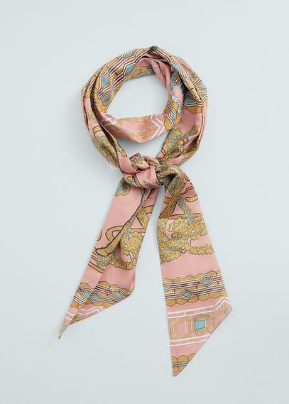 Floral scarf | MANGO