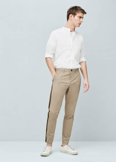 Pantalon à liserés contrastants | MANGO MAN