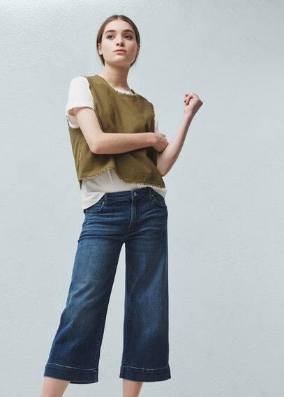 MANGO Crop Nicky Jeans