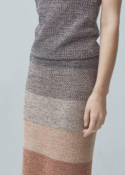 Jupe maille coton | MANGO