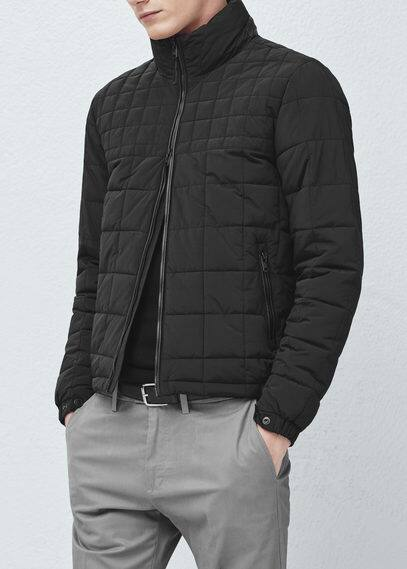 Appliqué quilted coat | MANGO MAN
