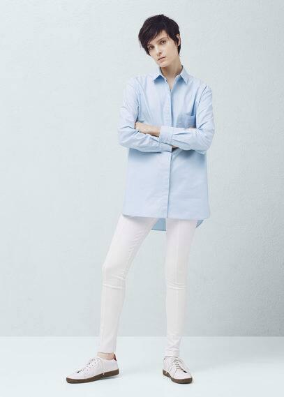 Pantalón pitillo elástico | MANGO