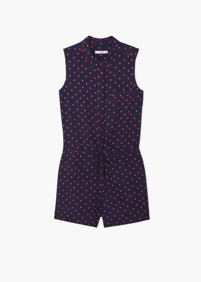 Korte jumpsuit met print | MANGO