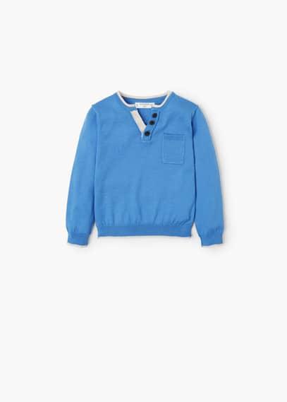 Pullover cotone tasca | MANGO KIDS