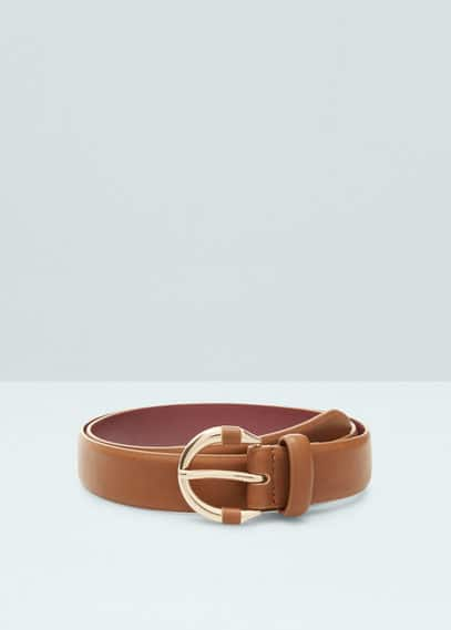 Metal buckle belt | MANGO