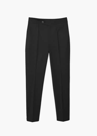 Straight cotton trousers   MANGO
