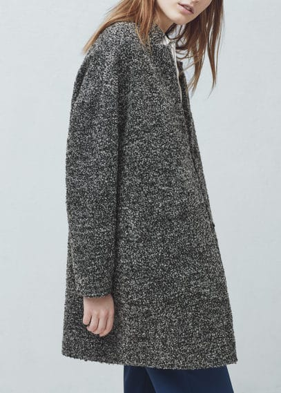 Manteau tissu bouclé | MANGO
